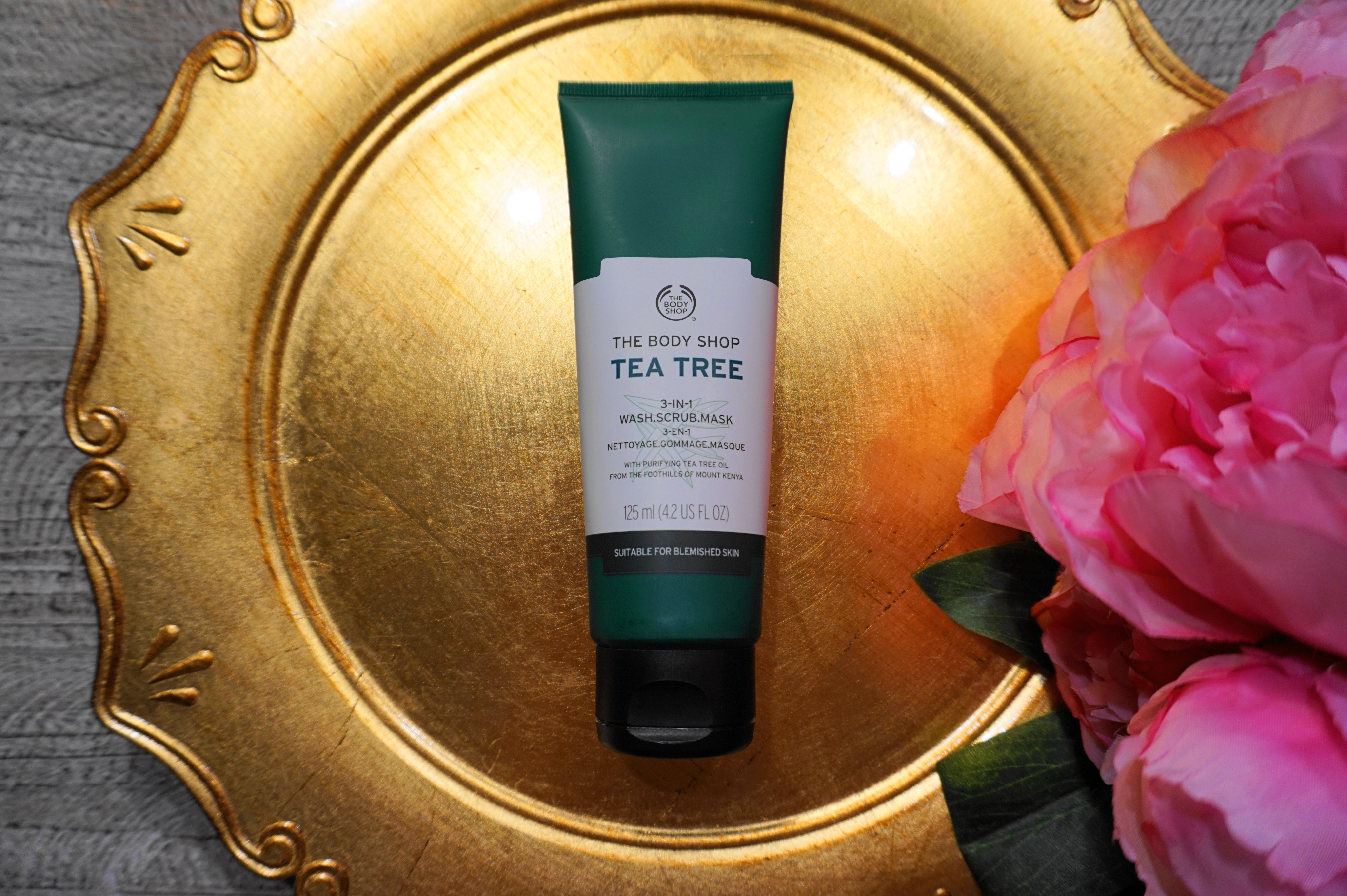 The Body Shop Tea Tree 3 In 1 Wash Scrub Mask Review Adryana S