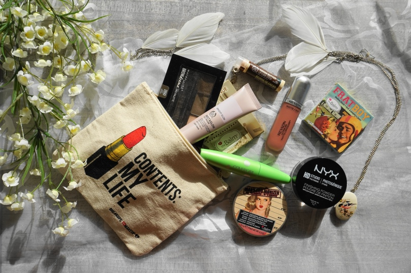 summer makeup bag