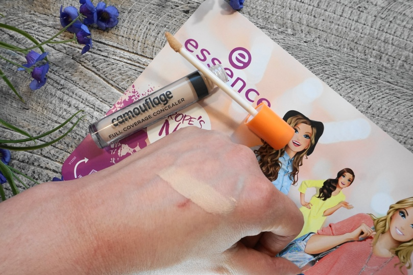 essence camouflage concealer swatch