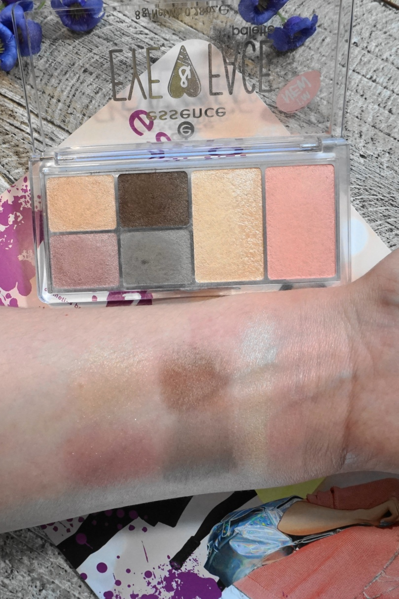 essence eye and lip swatch
