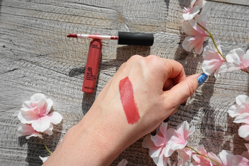 the body shop matte lip liquid swatch nairobi camellia