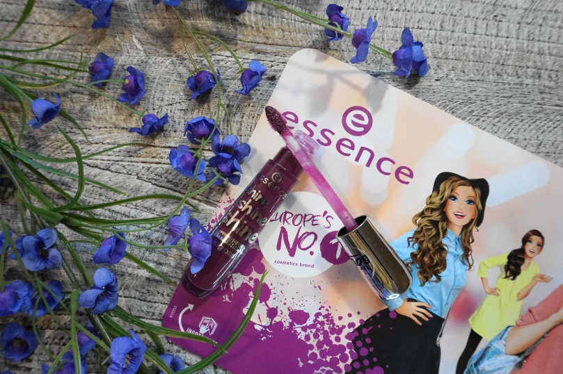 essence shine dark plum lipgloss