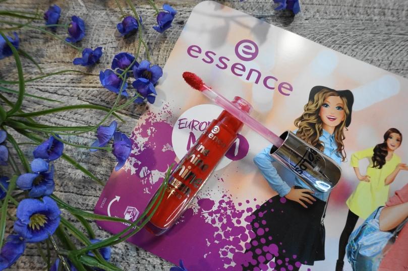 essence shine red lipgloss