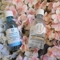 the body shop camomile waterproof almond milk honey shower cream