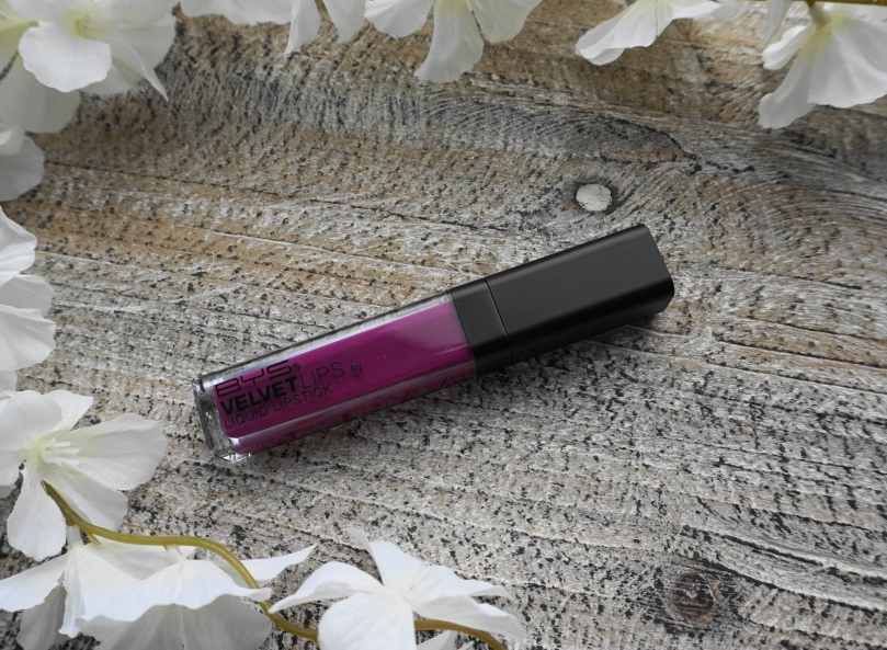 bys velvet lips liquid lipstic 12 purple pop