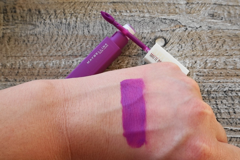 mayvbelline super stay matte ink creator swatch