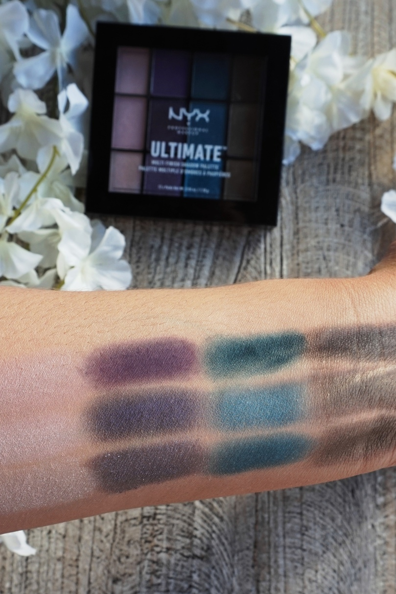 nyx swatches ultimate eyeshadow palette